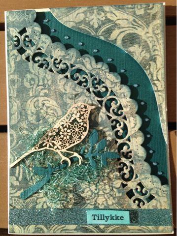 Riddersholm Design: Et tillykke kort i blå nuancer
