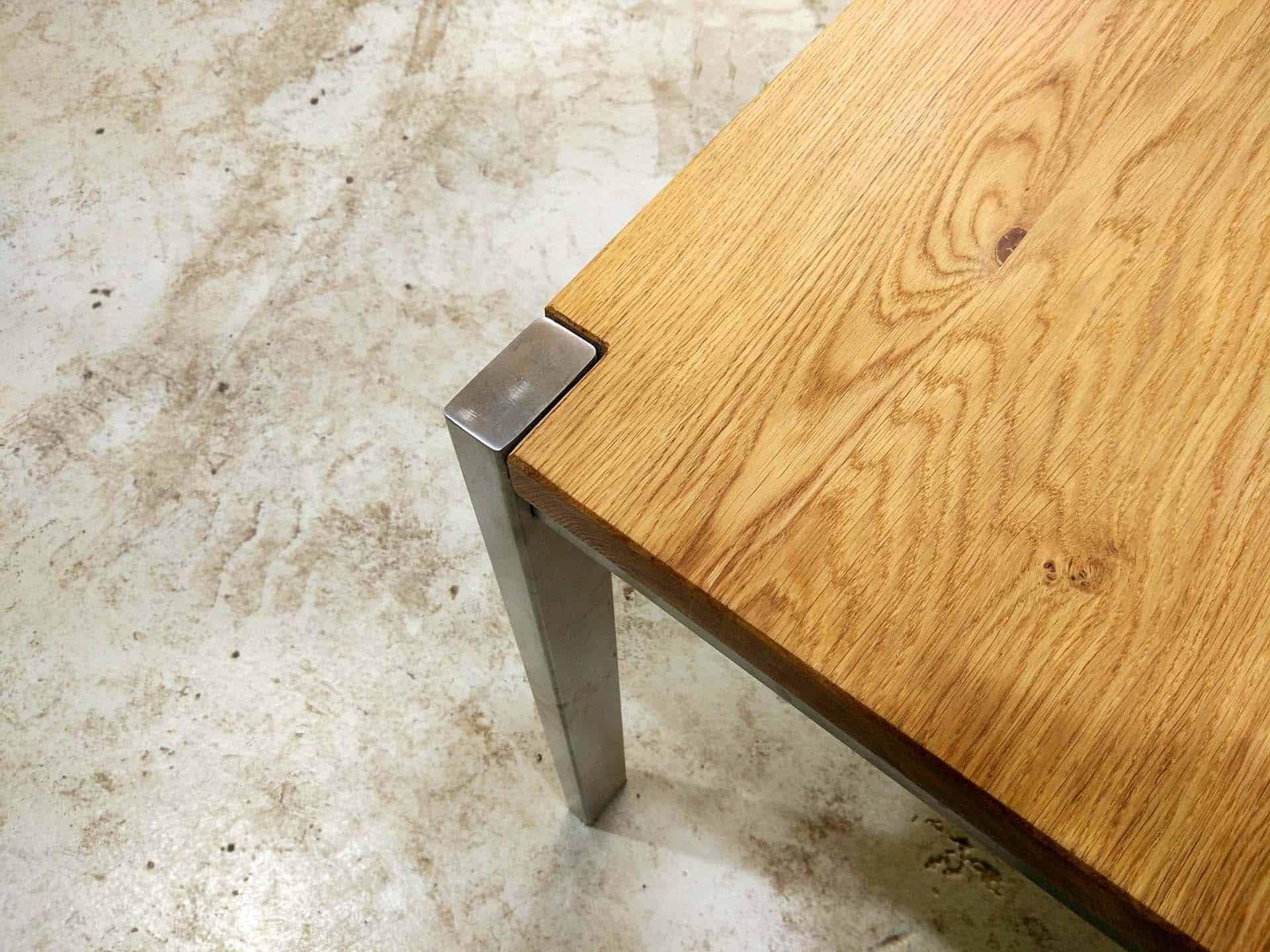 Tisch Ferrum 003 Holz Metall Eiche Esstisch Gartentisch Stahlzart Holz Tische Holz Eiche