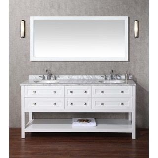 Shop For Stufurhome Marla 72Inch Double Sink Bathroom Vanity With Amusing 72 Inch Bathroom Vanity Double Sink Inspiration Design