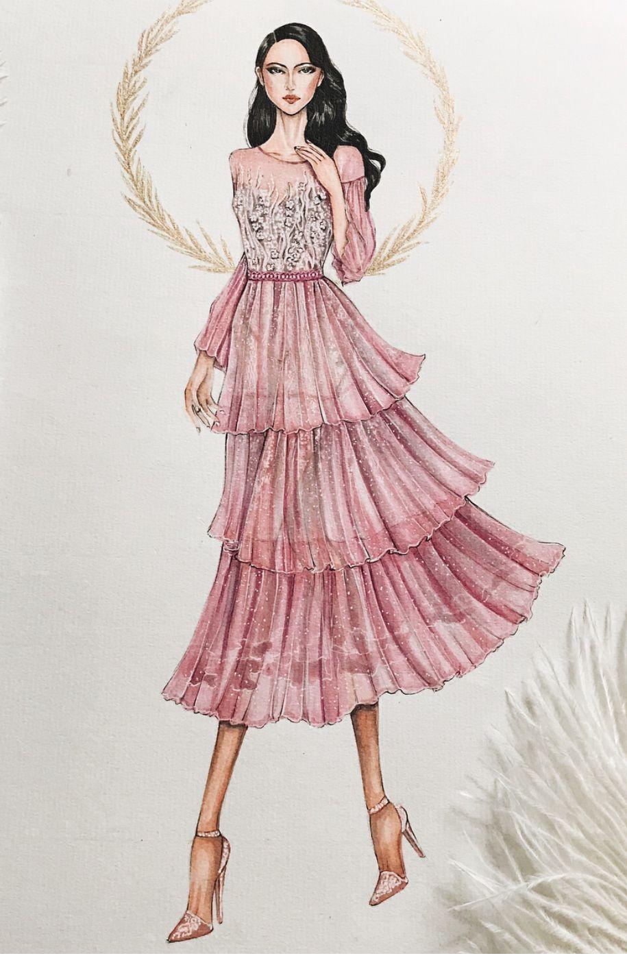 Pin de Shehrizad Style en dress sketches   Pinterest   Ilustraciones ...