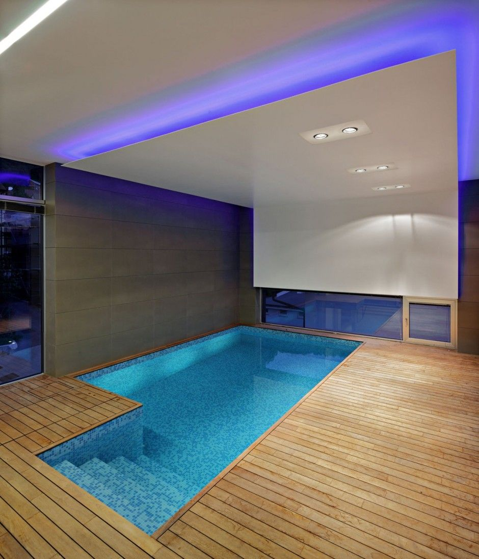 An Indoor Swimming Pool In A Home Zagreb Croatia