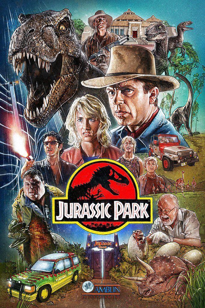 Jurassic Park (1993) Film Poster