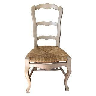 Cream Colored Ladder Back Dining Chairs   Set Of 4