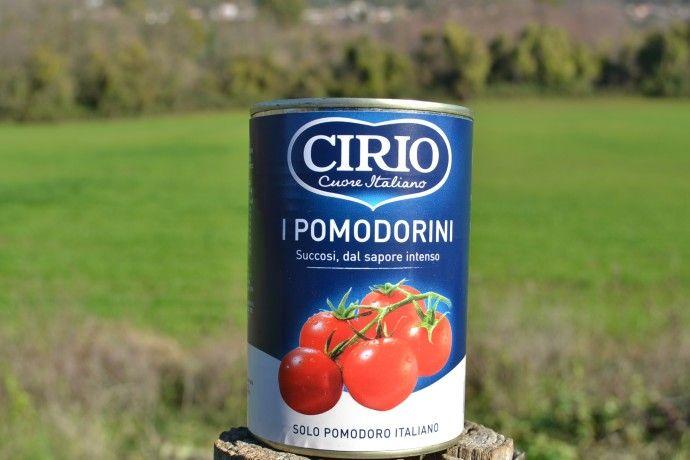 Pomodorini Cirio. 100% Italiani