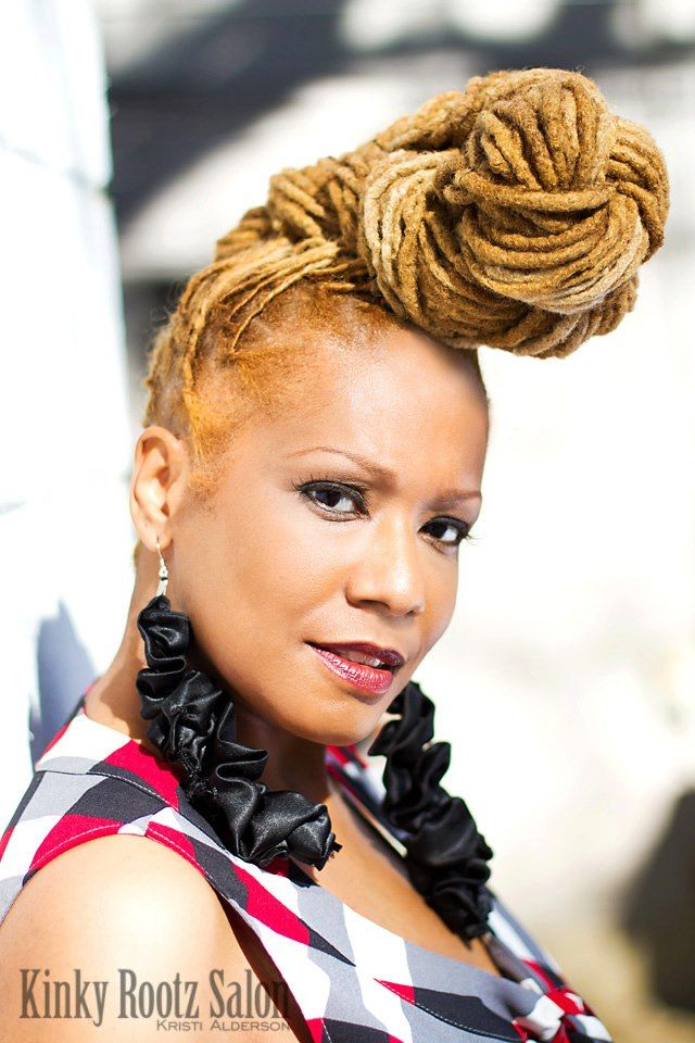 loc styles   Tumblr loc pompadour and color   Natural hair styles, Dreadlock styles, Braids