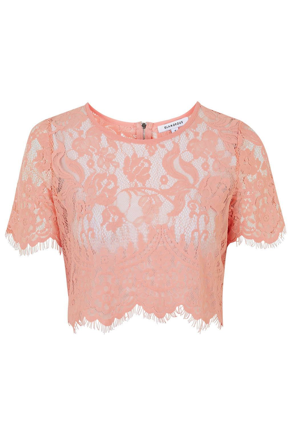 1dcd6cdc2e2 Sheer Lace Crop Top by Glamorous | WISHLIST