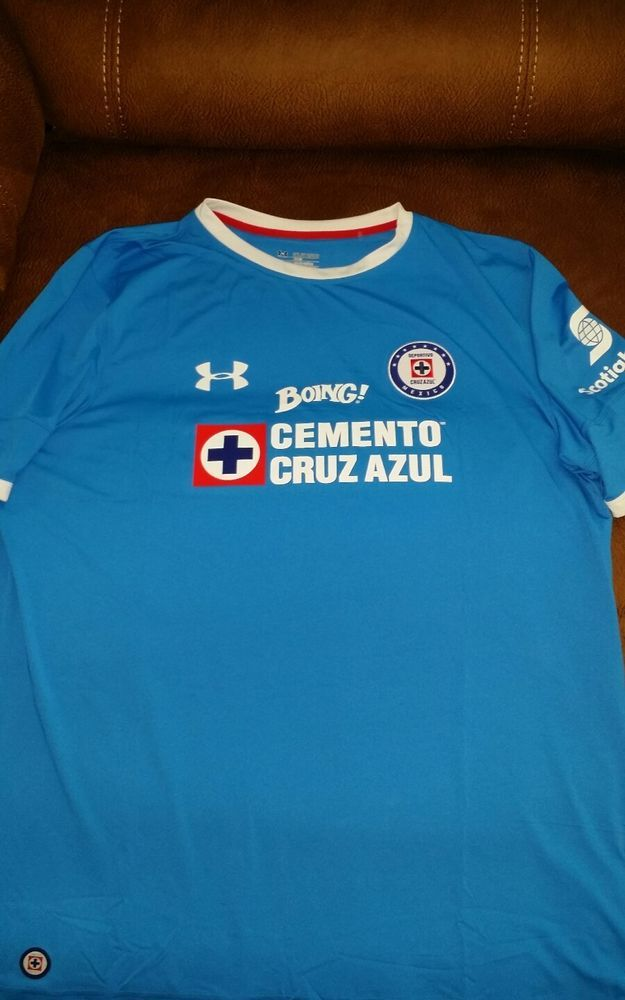 4f6b07c9039 cruz azul under armour blue soccer futbol jersey new without tags size 3XL  mens