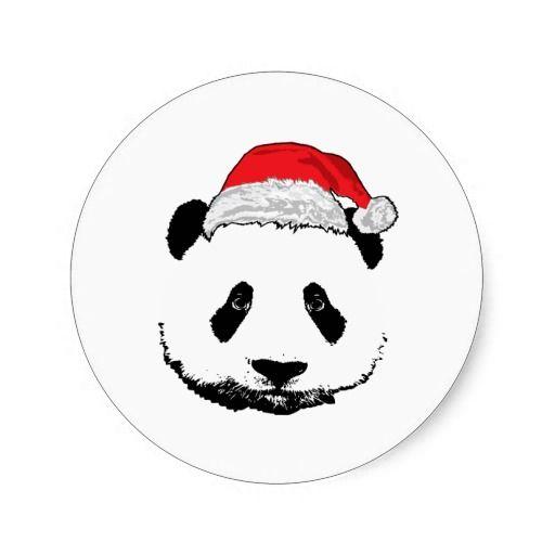 X-Mas panda Sticker