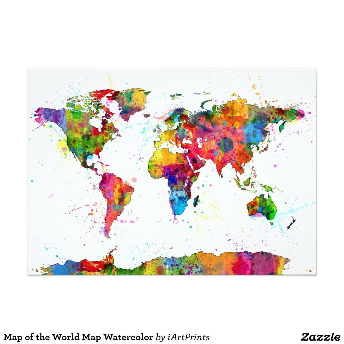 Map Of The World Map Watercolor Zazzle Com Map Art Water