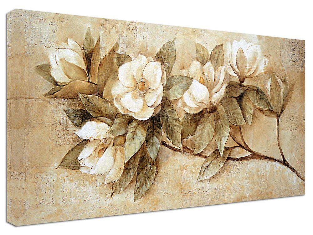Quadro moderno arredamento fiori natura ramo vintage arte arredo