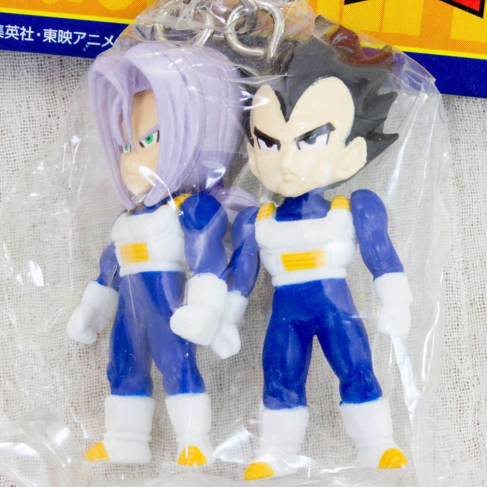 Dragon Ball Z Vegeta + Trunks Figure Key Chain JAPAN ANIME MANGA