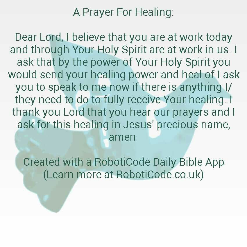 A Prayer For Healing.