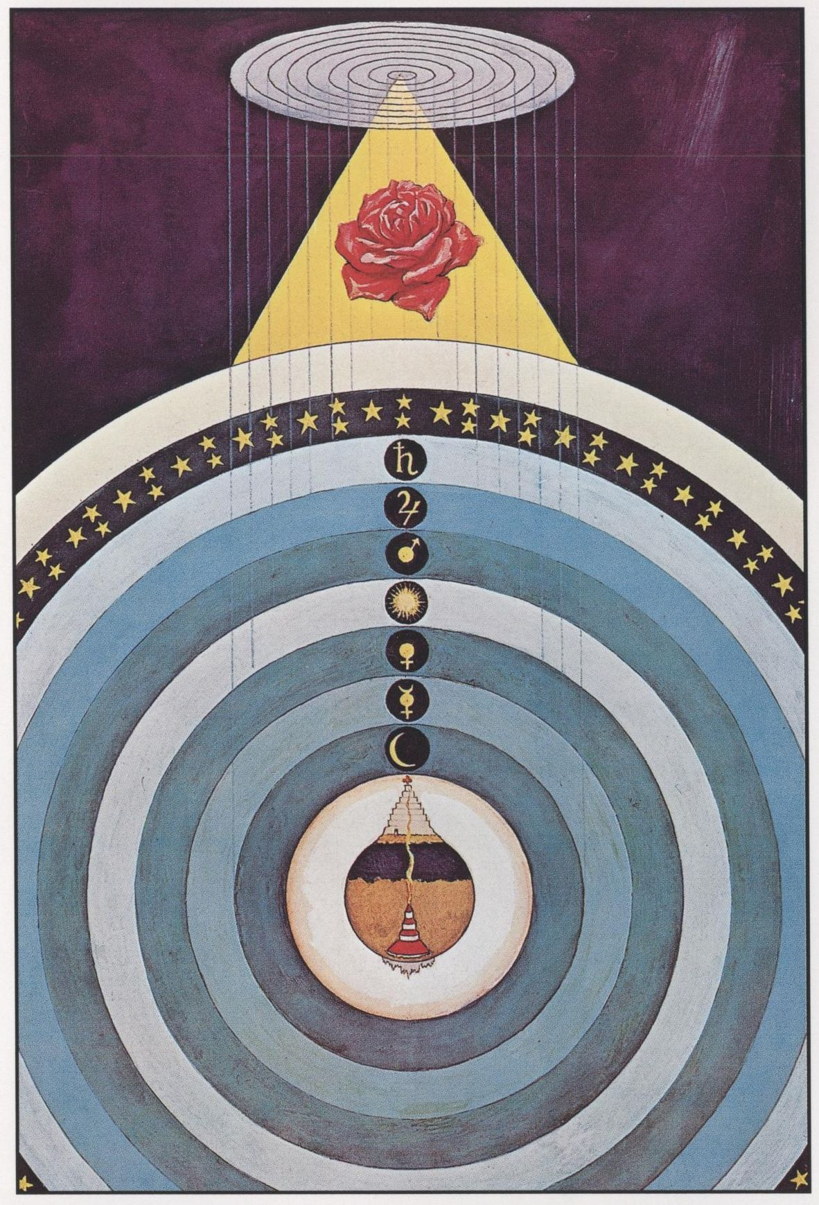 """Color plate by Augustus Knapp from """"The Secret Teachings of All Ages"""" by Manly P"""