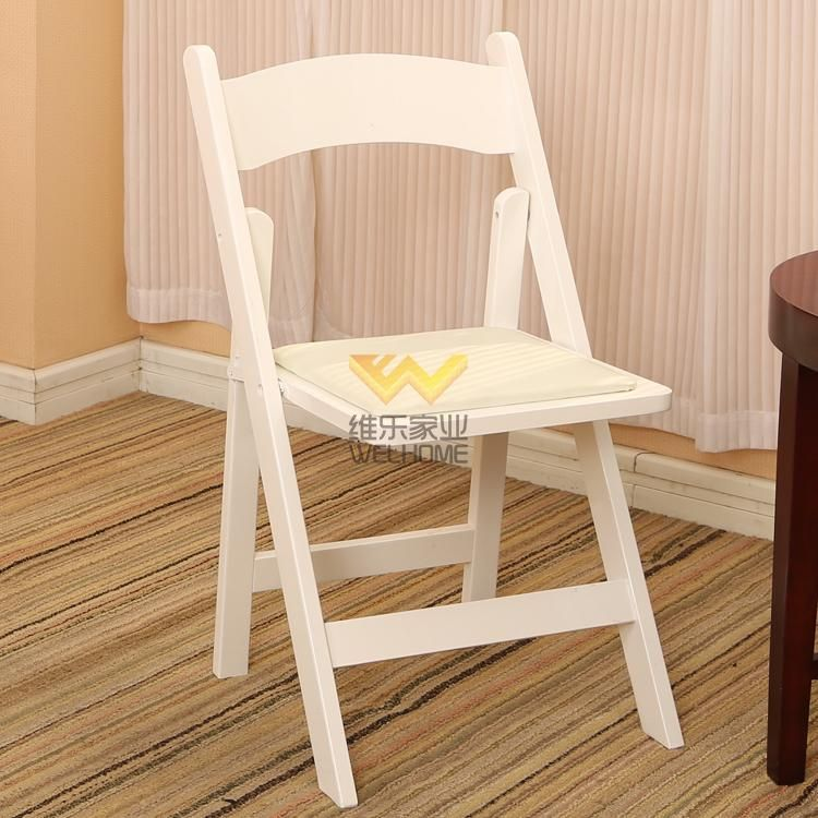 Hotsale White Beech Wood Folding Chair Wood Folding Chair