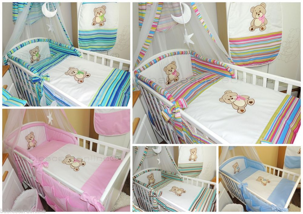 Details About Lovely 3 Pcs Baby Bedding Set Bumper