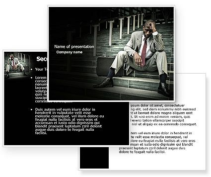 Economic crisis powerpoint template with economic crisis this powerpoint template will be a great choice for presentations on crisis marketing problem solving difficulties unemployment toneelgroepblik Image collections