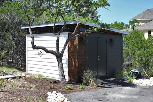 Kanga prefab modern shed kit kanga room systems for Prefab garden sheds