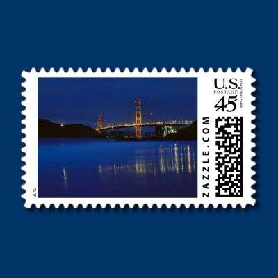 Golden Gate Bridge 3 Postage Stamp by fstasu53