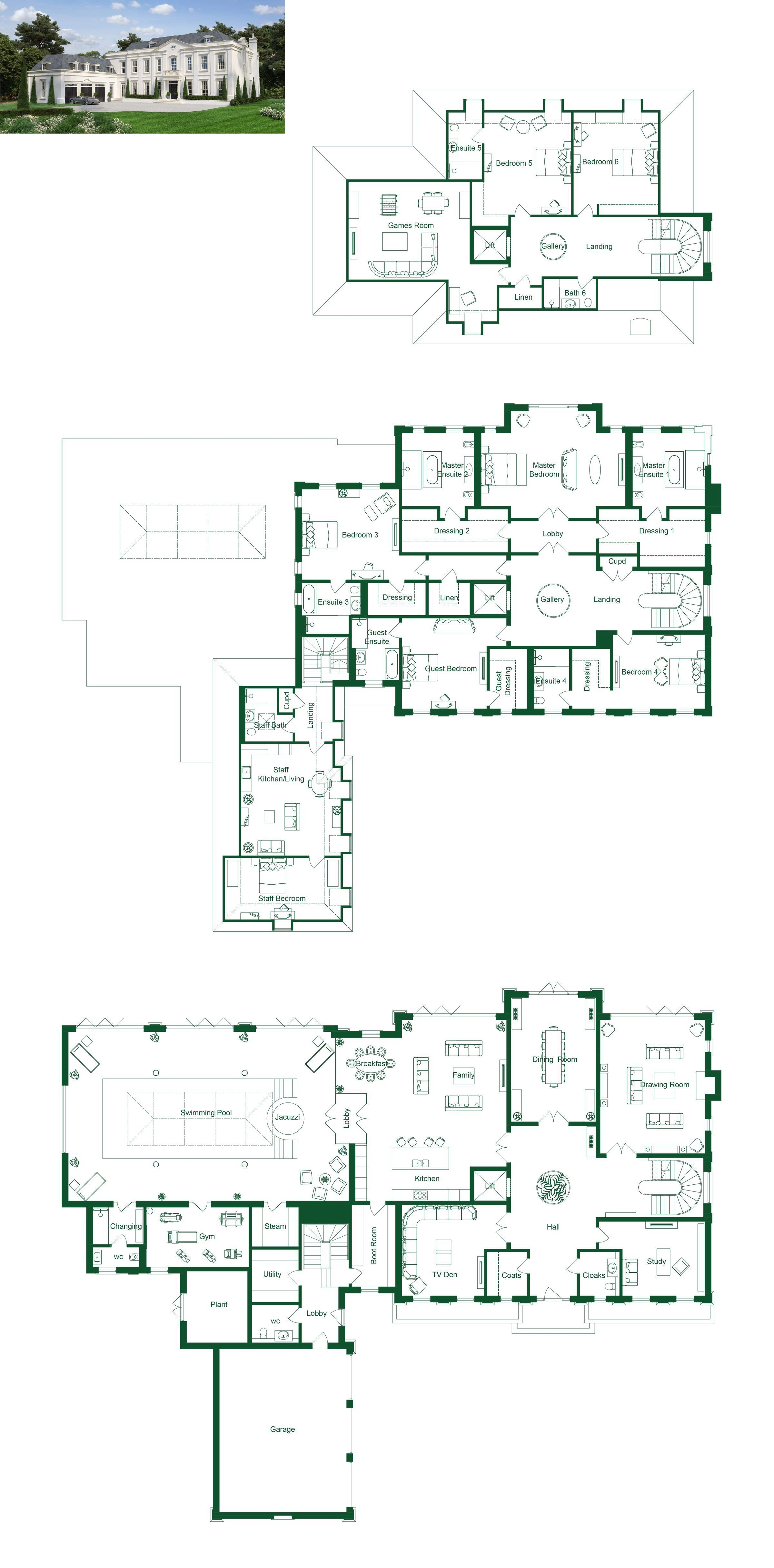 Google Image Result For Https I Pinimg Com Originals 4c 73 Dd 4c73ddfbbd7eb2a58eb0f13eeb0ba172 Jpg House Plans Mansion Mansion Floor Plan Large House Plans