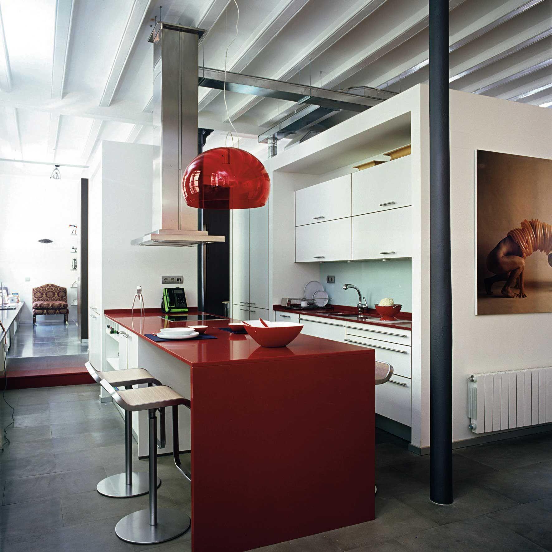 Cuisine Mur Rouge Recherche Google Deco Cuisine Grise Cuisine Gris Cuisine Mur Rouge