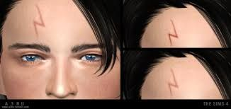 Bildresultat For Harry Potter Cc Sims 4 Sims 4 Harry Potter Scar Sims 4 Custom Content