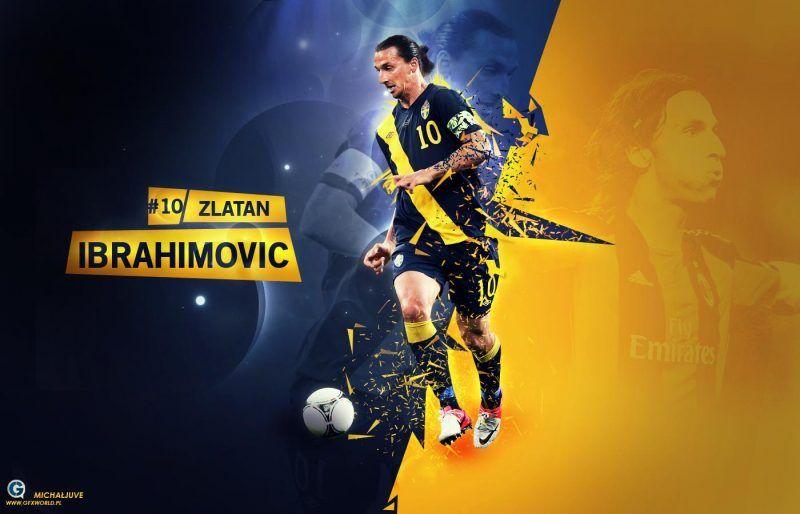 خلفيات زلاتان إبراهيموفيتش بقميص منتخب السويد Zlatan Ibrahimovic Sports Design History Hd
