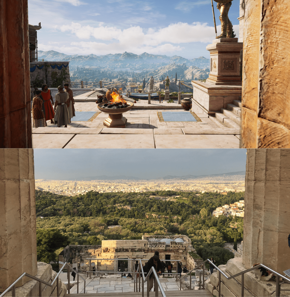 assassins creed odyssey map vs real greece