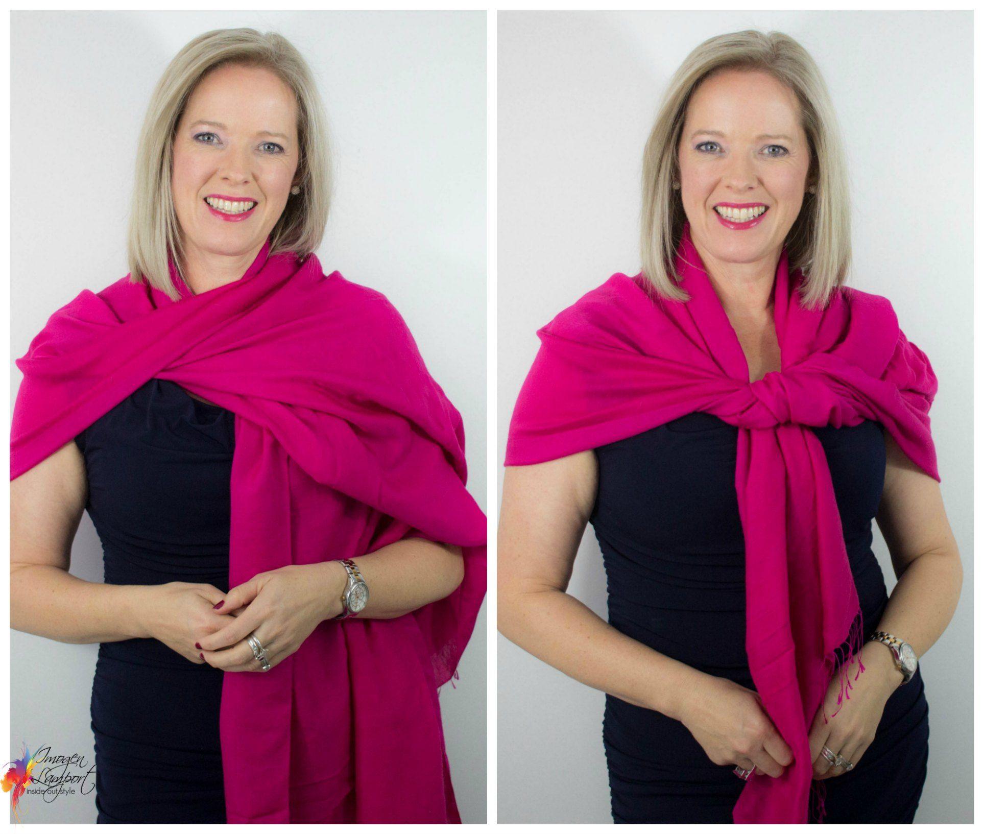 6 Ways To Wear A Pashmina Wrap Over An Evening Dress Pashmina