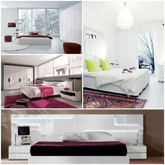 weißes bett schlafzimmer dekorieren doppelbett weiß | Schlafzimmer ...