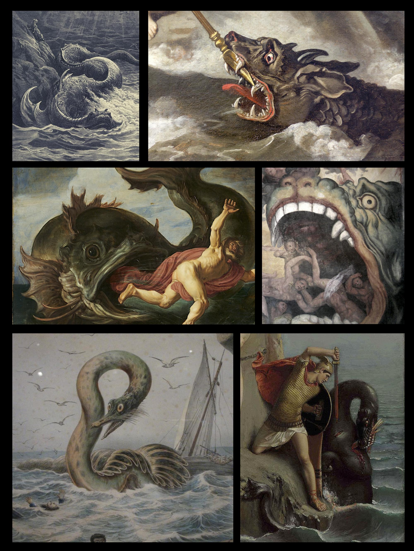 Sea Monsters Poster Renaissance Art Paintings Dark Paintings Renaissance Paintings