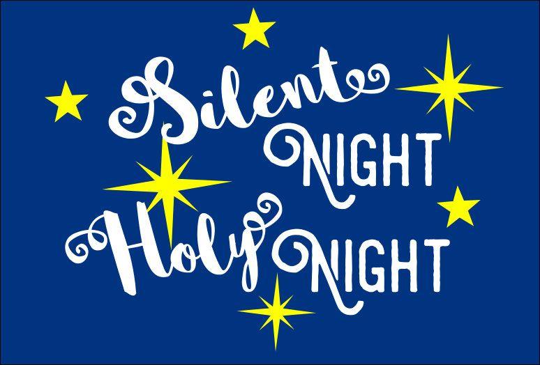 Svg Christmas Svg Files Silent Night Sign Stencil Svg Christmas