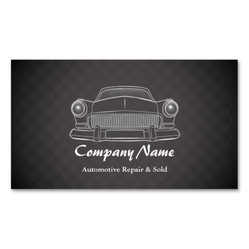 Elegant car retro automotive repair business cards business cards elegant car retro automotive repair business cards reheart Image collections