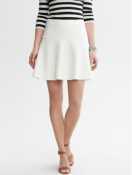 24ef2a5a3de6c6 White Fit and Flare Skirt | Banana Republic - purchased in 00P (recommended  by @StylishPetite)