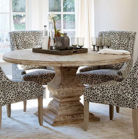 Andrews pedestal dining table traditional dining tables by ballard designs like the concept not sure about the fabric