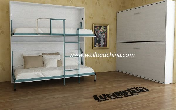 Wall Bunk Bed Double Decker Hidden Wall Bed View Folding Wall Bed Wallbed China Product Details From Shenzhen Deman One Room Flat Hidden Wall Bed Murphy Bed