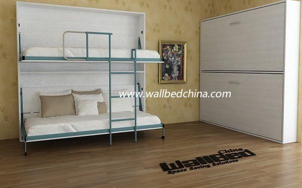 Wall Bunk Bed Double Decker Hidden Wall Bed View Folding