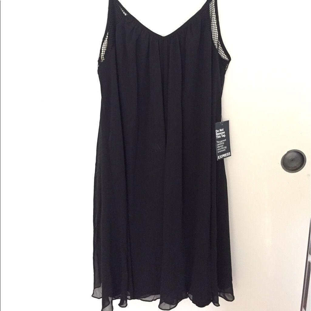 e04c948f0bf0 Express Black Mesh Swing Dress | Products | Dresses, Swing dress, Black