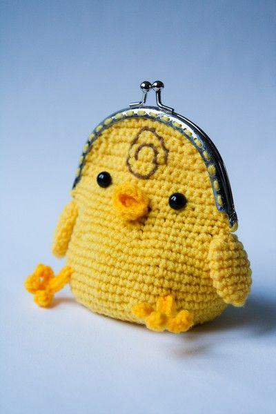 Inspiration pour faire un mini portemonnaie pour TurboAmi Shop. ~ Sweet wallet Chicken ~ made by sweetcrochet.nl