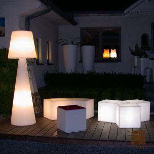 Lampadaire ext rieur pivot ali baba slide design for Lampe exterieur pour terrasse
