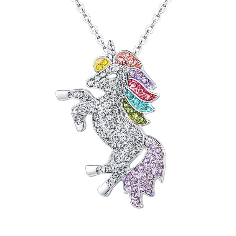 Childrens Unicorn Necklace Sterling Silver Chain Unicorn Jewellery Gift