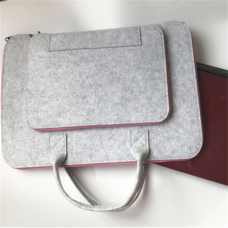 0443f7a6b09b Wool Felt Laptop Sleeve Case 11 12 13 14 15.6 17 Inch Laptop Bag for ...