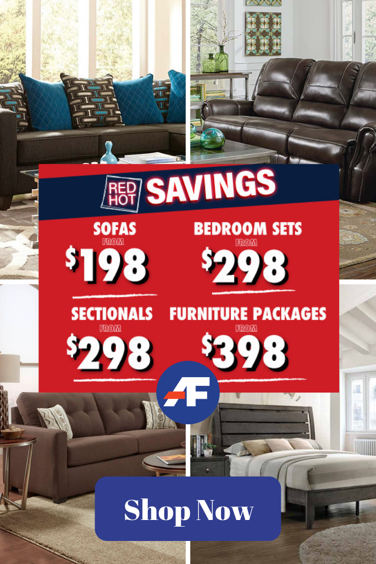 Summer Is Heating Up Our Savings Are Red Hot Take Home Sizzling Styles For Your Dining Room Li American Freight Furniture Furniture Packages Room Packages