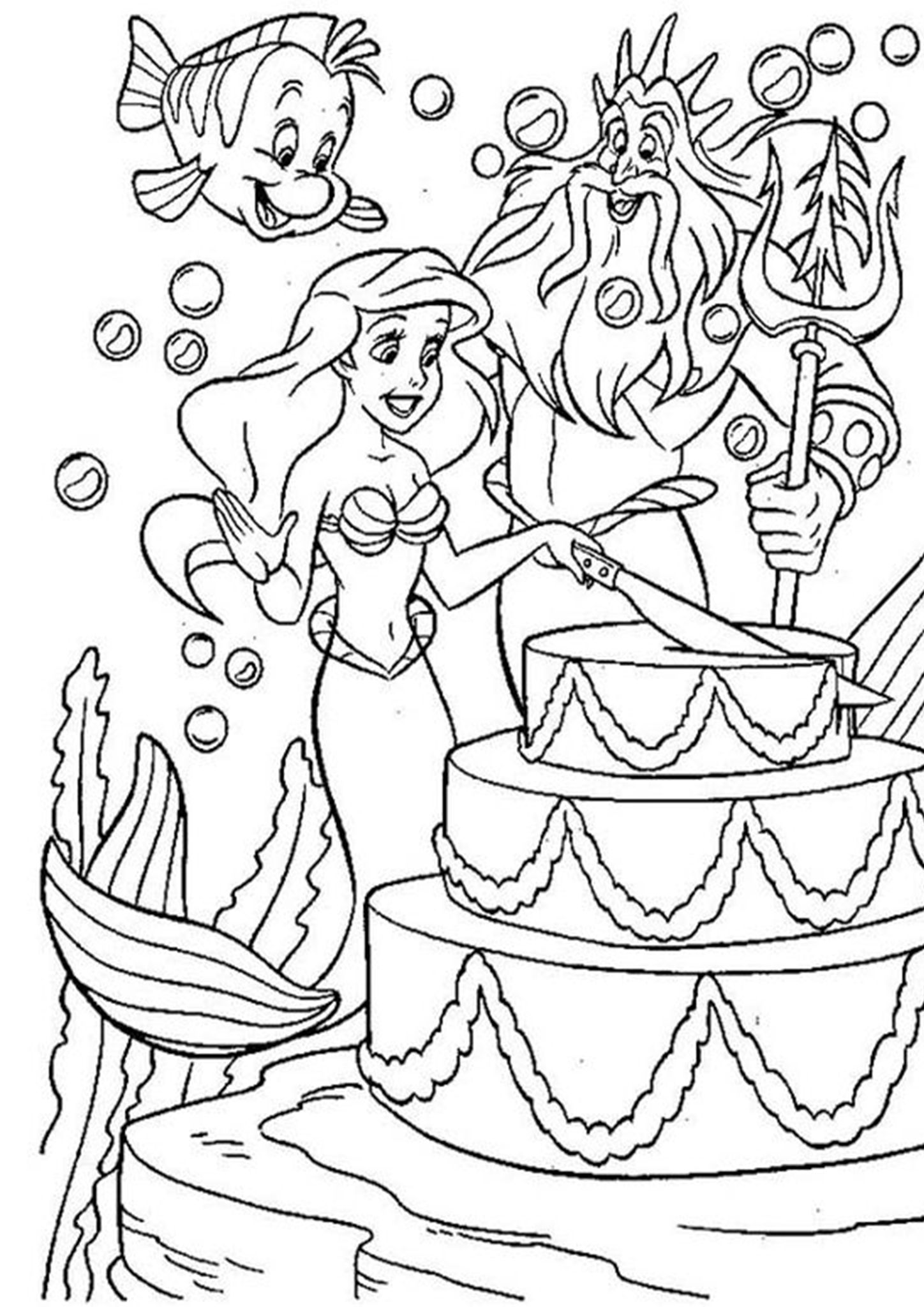 Coloring Page Little Mermaid Printable Pages Free The Ariel Coloring Pages Mermaid Coloring Book Mermaid Coloring Pages [ 1911 x 1940 Pixel ]