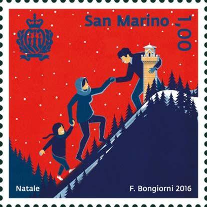 2016 - Natale - Famiglia che sale verso la terza torre di San Marino