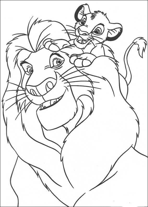 der könig der löwen 4 ausmalbilder für kinder malvorlagen