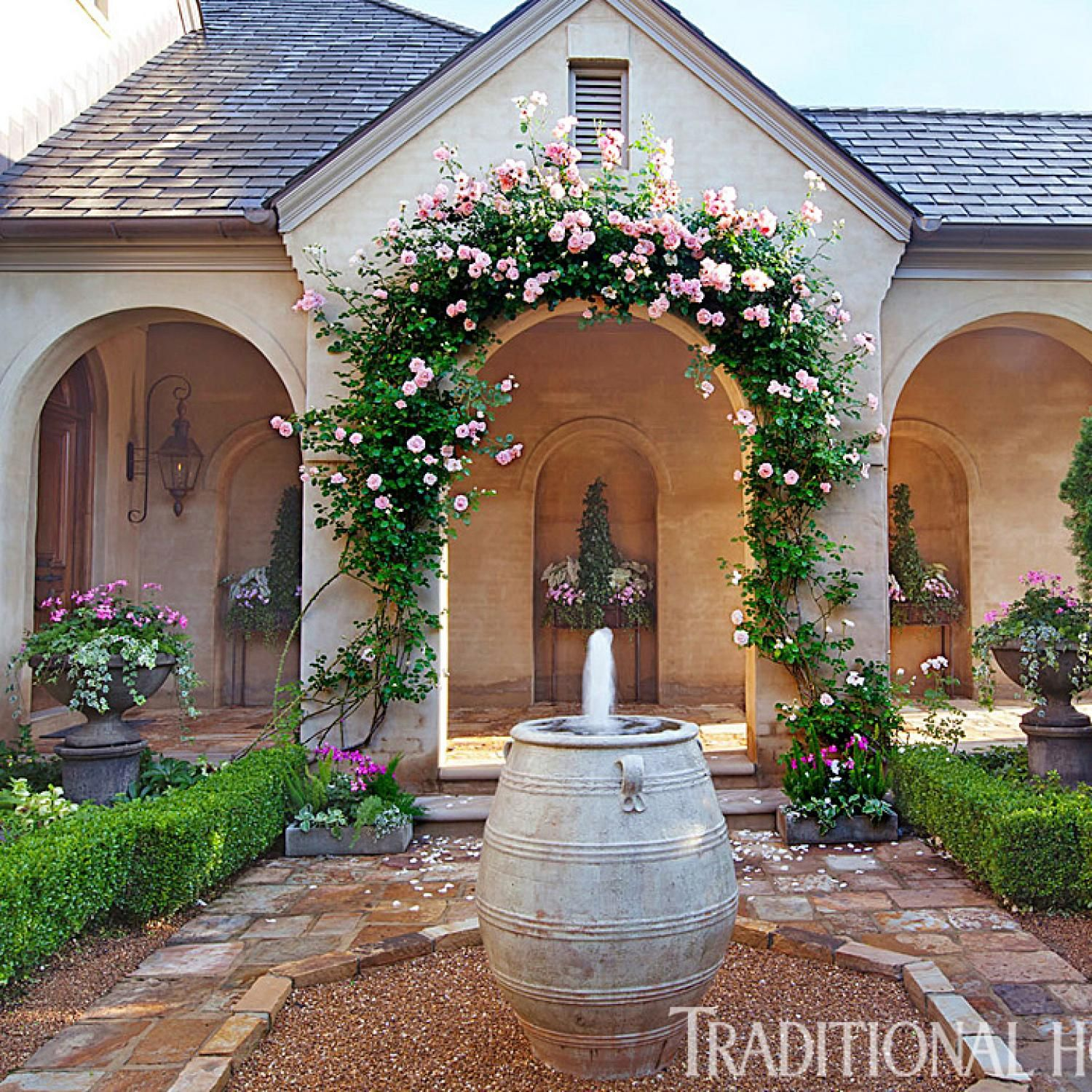 Carns Garden At The Home S Entrance A Loggia Opens Onto
