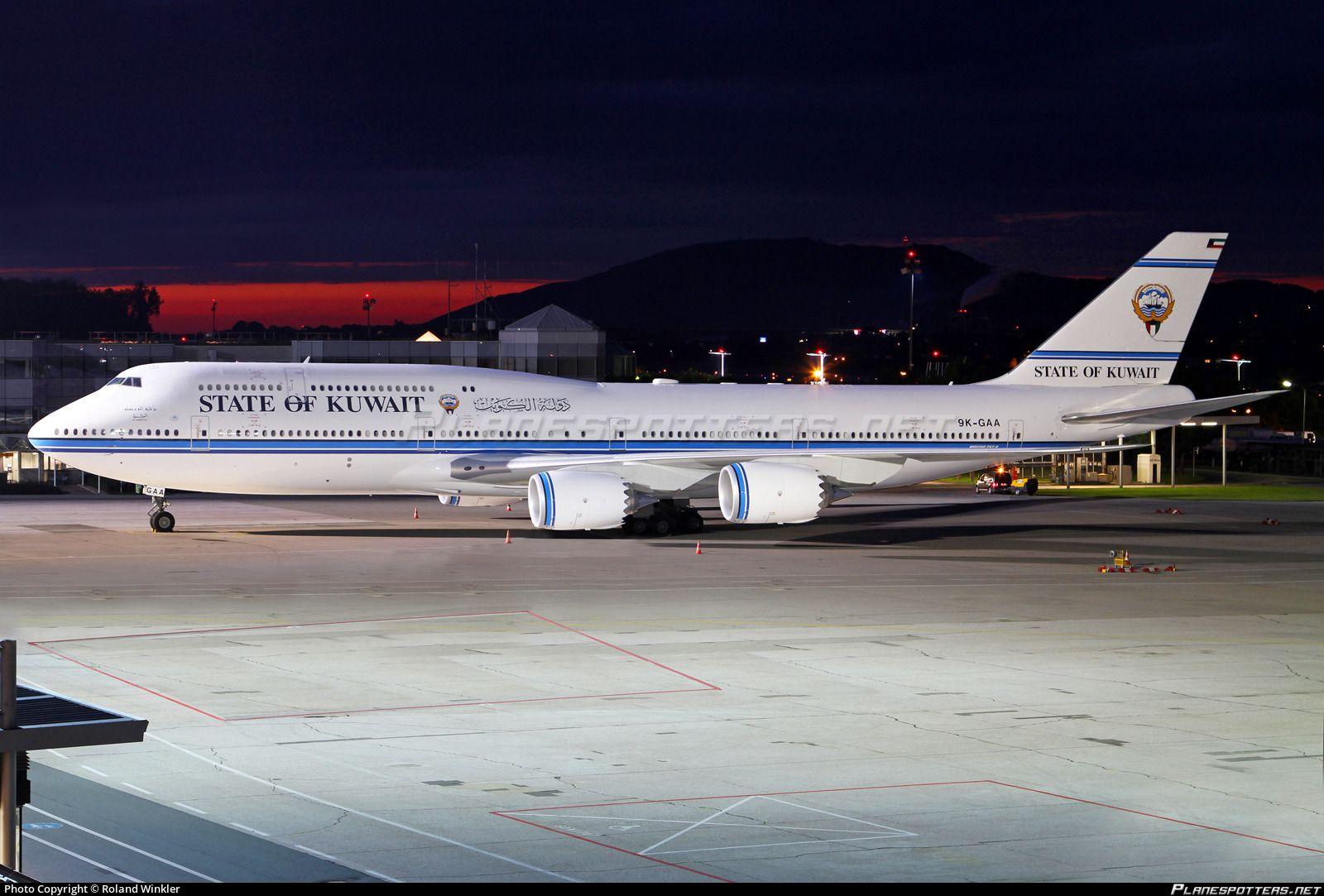 9k Gaa State Of Kuwait Boeing 747 8jk Bbj Boeing 747 Boeing Boeing 747 8