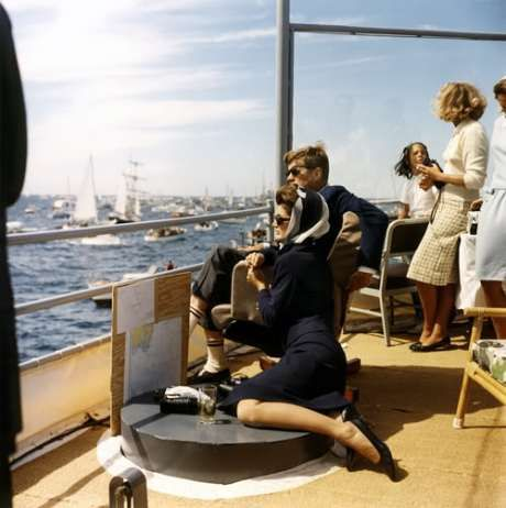 President John F Kennedy and Jackie Kennedy.