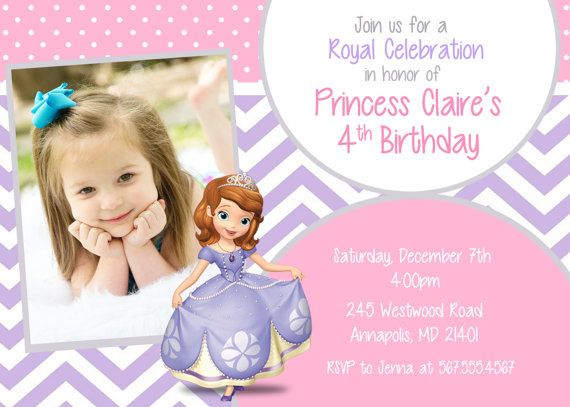 Sofia the first birthday party invitation digital file on etsy sofia the first birthday party invitation digital file on etsy 899 stopboris Image collections
