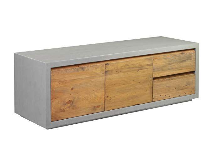 Woodkings TV Bank Burnham, Lowboard aus recyceltem Pinien Holz